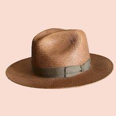 Vintage Stetson Greenbriar Bronze Straw Hat SZ S