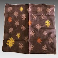 Vintage Fall Leaves Cotton Handkerchief