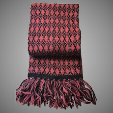 Vintage Knitted Scarf Swaledale Wollens Yorkshire England