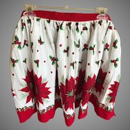 Vintage Cotton Christmas Holiday Hostess Apron