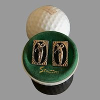 Vintage Stratton Golfer Cufflinks Made in England