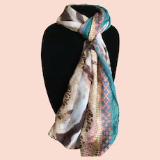 Animal and Jewelry Print Rectangular Scarf