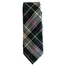 Vintage Mackenzie Clan Tartan Wool Tie Made in Scotland