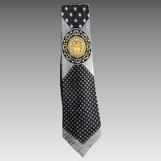 Gianni Versace Medusa Silk Necktie