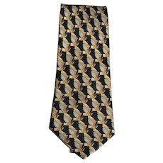 Vintage Lanvin Paris Renaissance Silk Tie