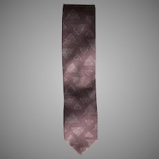 Vintage Giorgio Armani Claret Christmas Tree Tie