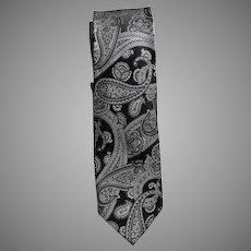 Vintage Old Stock Silk Brocade Tie