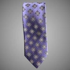 Vintage Lilac Silk Brocade Ermenegildo Zegna Tie