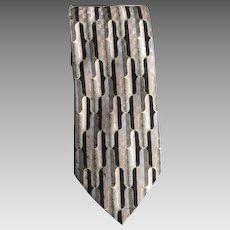 Vintage Mid Century Modern Design Necktie