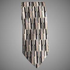 Vintage Classic Mid Century Modern Design Necktie