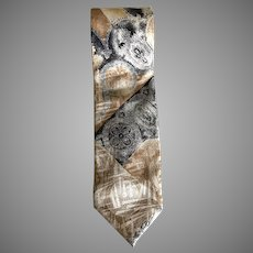 Mid Century Modern Silk Hubert of Milan Necktie