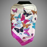 Vintage Psychedelic Mod Butterfly Scarf