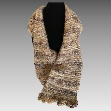 Vintage Hand Knitted Boucle Scarf