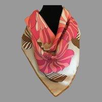Vintage Maggy Rouff Paris Silk Twill Scarf France
