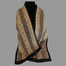Vintage Elaine Gold long Nylon scarf