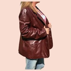1970s  Classic Collections Leather Blazer Jacket