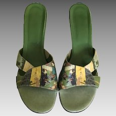Vintage Icon Wearable Art Kitten Heels