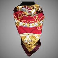 Vintage Erre di Ratti Paris Silk Twill Scarf