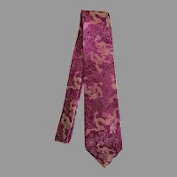 Vintage Film Noir Chinese dragon tie