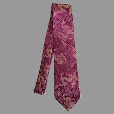 Vintage Film Noir Chinese dragon tie