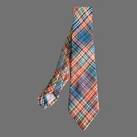 Vintage Drummond Clan Tartan Plaid Pure Wool Necktie Made in Scotoland