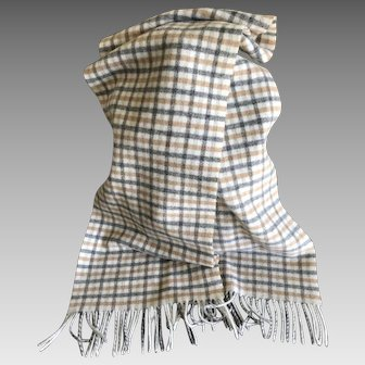 Vintage lambs wool scarf made by Pringle in Scotland