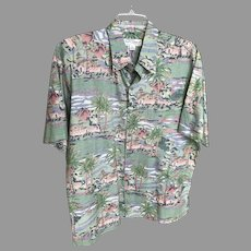 Vintage Tori Richard Cotton Lawn Shirt Hawaii SZ L