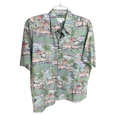 Vintage Tori Richard Cotton Lawn Shirt Hawaii SZ L
