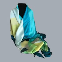 Vintage Sea Colors Wrap / Scarf