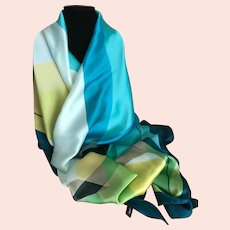Vintage Sea Colors Wrap / Scarf