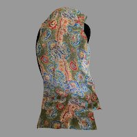 Vintage Autumnal Colors Silk and Polyester Rectangular Scarf