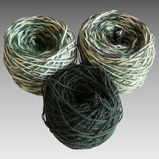 Three balls of Italian yarn