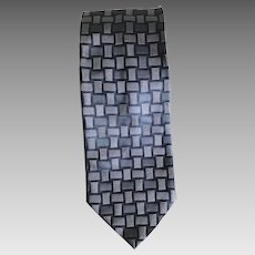 Vintage shades of black Italian silk necktie