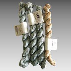 Four skeins of Elsebeth Lavold silk and cashmere blend yarn