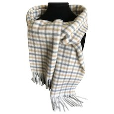 Vintage Pringle lambs wool scarf made in Scotland