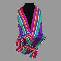 Rainbow Silk Scarf Liz Claiborne