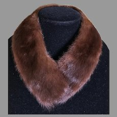 Vintage Natural Mink Detachable Collar