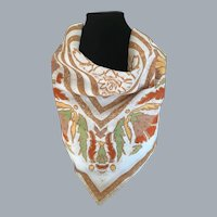 Vintage Cotton Scarf Made in Italy