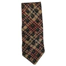 Vintage Woven Silk Scarf Villa Bugatti Necktie