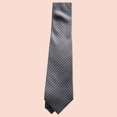 Armani Classic Necktie in Shades of Silver
