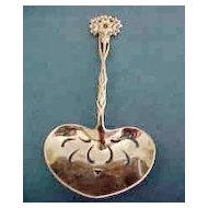 Tiffany Sterling Silver Pierced Floral  Bonbon Spoon