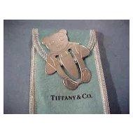 Tiffany & Co. Sterling Silver Teddy Bear Bookmark