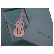 Rare Tiffany & Co. Sterling Silver  Cello Violin Bookmark MIB