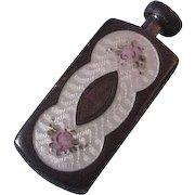 Wee Victorian Sterling Silver & Enamel Scent Perfume Bottle