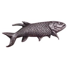 Unique Carl Ruopoli Sterling Silver Fish Pin