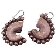 Los Castillo Vintage Sterling Silver Abstract Earrings
