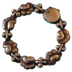 """Georg Jensen Denmark Sterling Silver """"Moonlight Grapes"""" Bracelet"""
