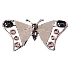 Swarovski Butterfly Pin with Box and Papers