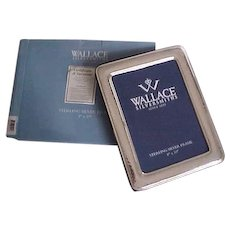 """Wallace Hammered 8"""" x 10"""" Sterling Silver Frame in Box"""