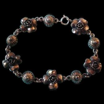 Peruzzi Florence 800 Silver Rose Bracelet